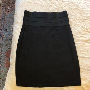 Black Fitted Work Skirt - Career - Max Studio